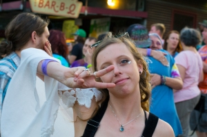 cute hippie girl at a concert